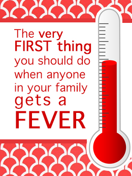 This is REALLY helpful information for all ages and will give you peace of mind when ever anyone in your family gets a fever! #fever #treat #cold #flu #sick #baby #toddler #child #adult #natural