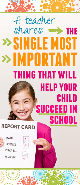 Help your child be successful at school!