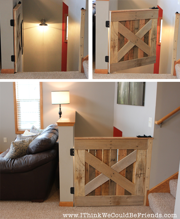 Baby Fireplace Gate Part - 29: Build This Palette Wood Baby U0026 Pet Gate In 3 Hours (plans Included!)