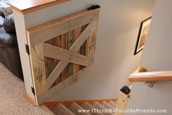 Diy Palette Wood Baby Amp Pet Gate I Think We Could Be Friends