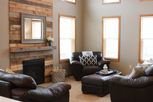 Palette Wood Fireplace Surround Makeover