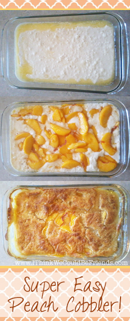 Wonderful Peach Cobbler Recipe, simple ingredients & preparation, but incredible taste!