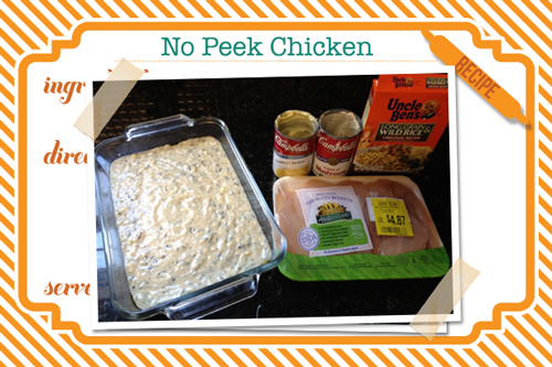 10 Quick Week Night Dinners you haven't tried: No Peek Chicken (the quickest recipe yet!)