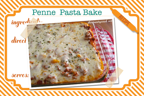 10 quick week night dinners you haven't tried: Penne Pasta Bake-- the alfredo sauce really makes this dish!