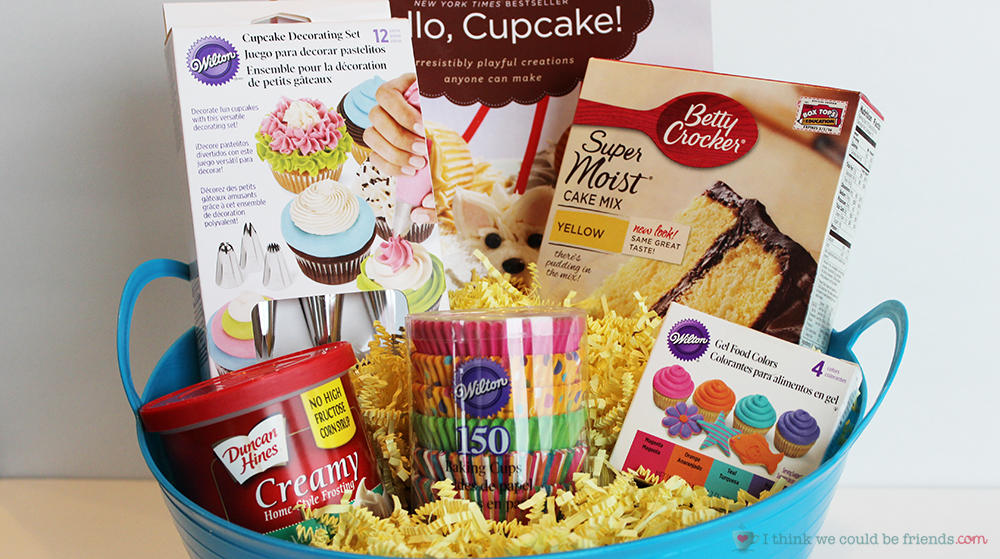 5 creative diy christmas gift basket ideas for friends family office 5 creative gift baskets a cupcake themed basket is fun to give especially with negle Images