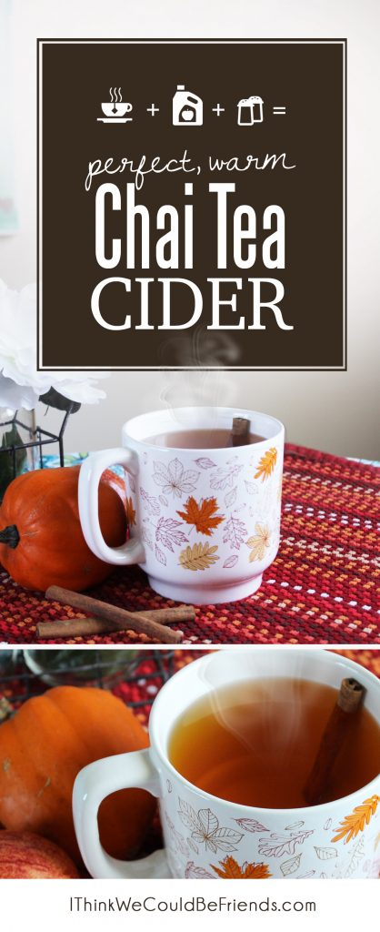 Your guests will rave about this warm chai tea cider drink. A wonderful mix of brewed chai tea, apple cider and a few spices.