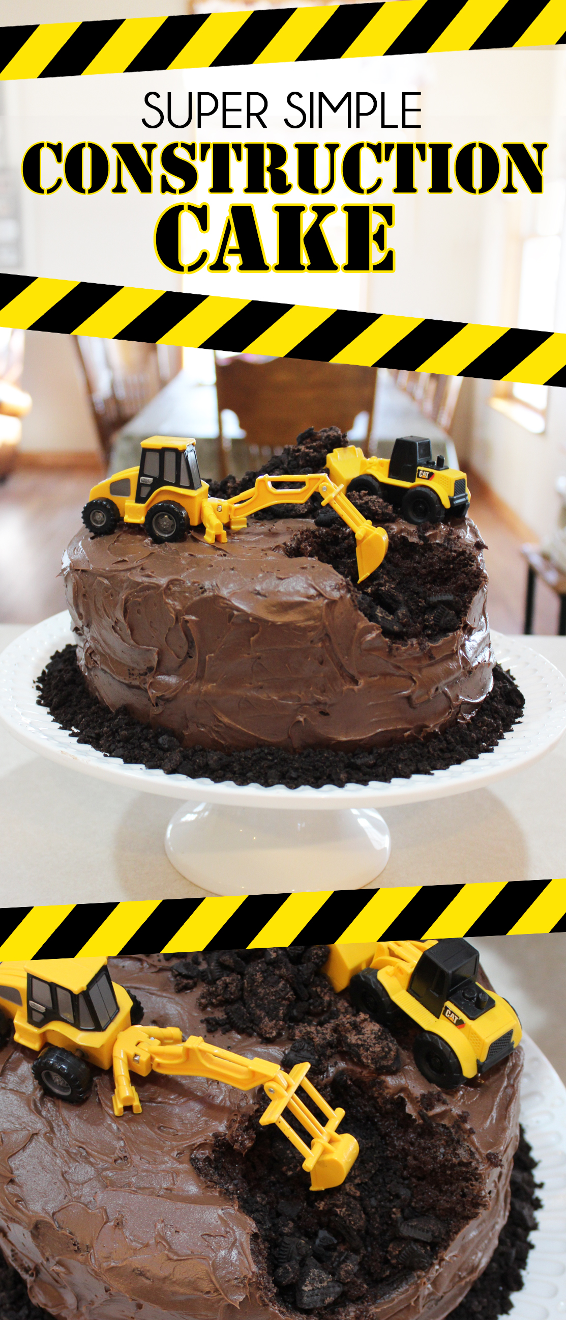 Super Simple Construction Themed Birthday Cake