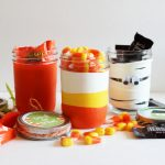 Easy Halloween Treat Mason Jars with balloons! A fun Halloween craft!