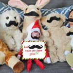 """35 New Elf on the Shelf Ideas: #5 We """"MUSTACHE"""" have you been good?"""