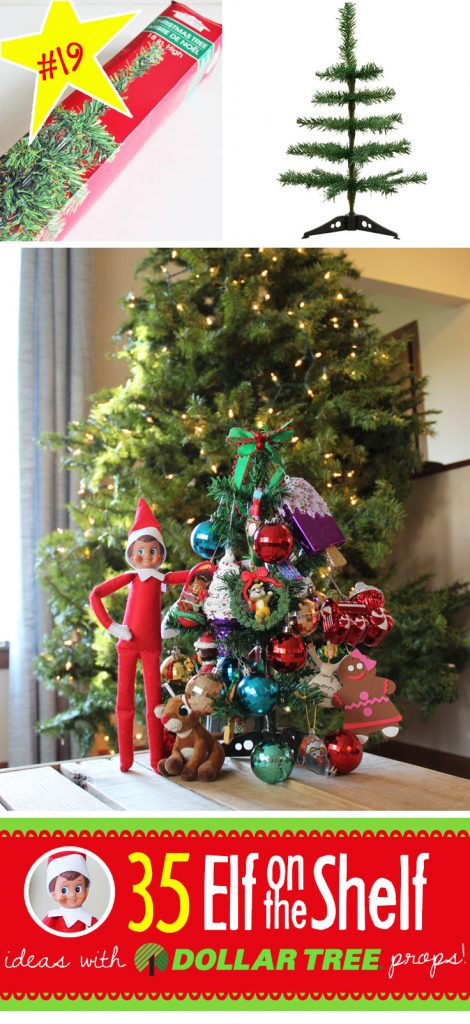 35 BRAND NEW Elf on the Shelf ideas for this year! These fun, creative & EASY Elf on the Shelf ideas all include an item from the Dollar Tree! #Christmas #ElfOnTheShelf #Ideas #Easy #Funny #Toddler #DIY #Printables