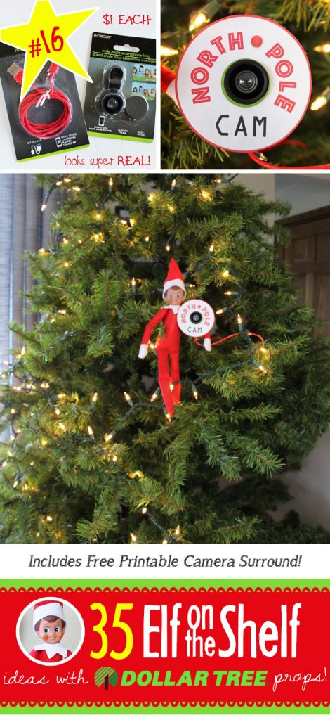 35 BRAND NEW Elf on the Shelf ideas for this year! These fun, creative & EASY Elf on the Shelf ideas all include an item from the Dollar Tree! #Christmas #ElfOnTheShelf #Ideas #Easy #Funny #Toddler #DIY #Printable
