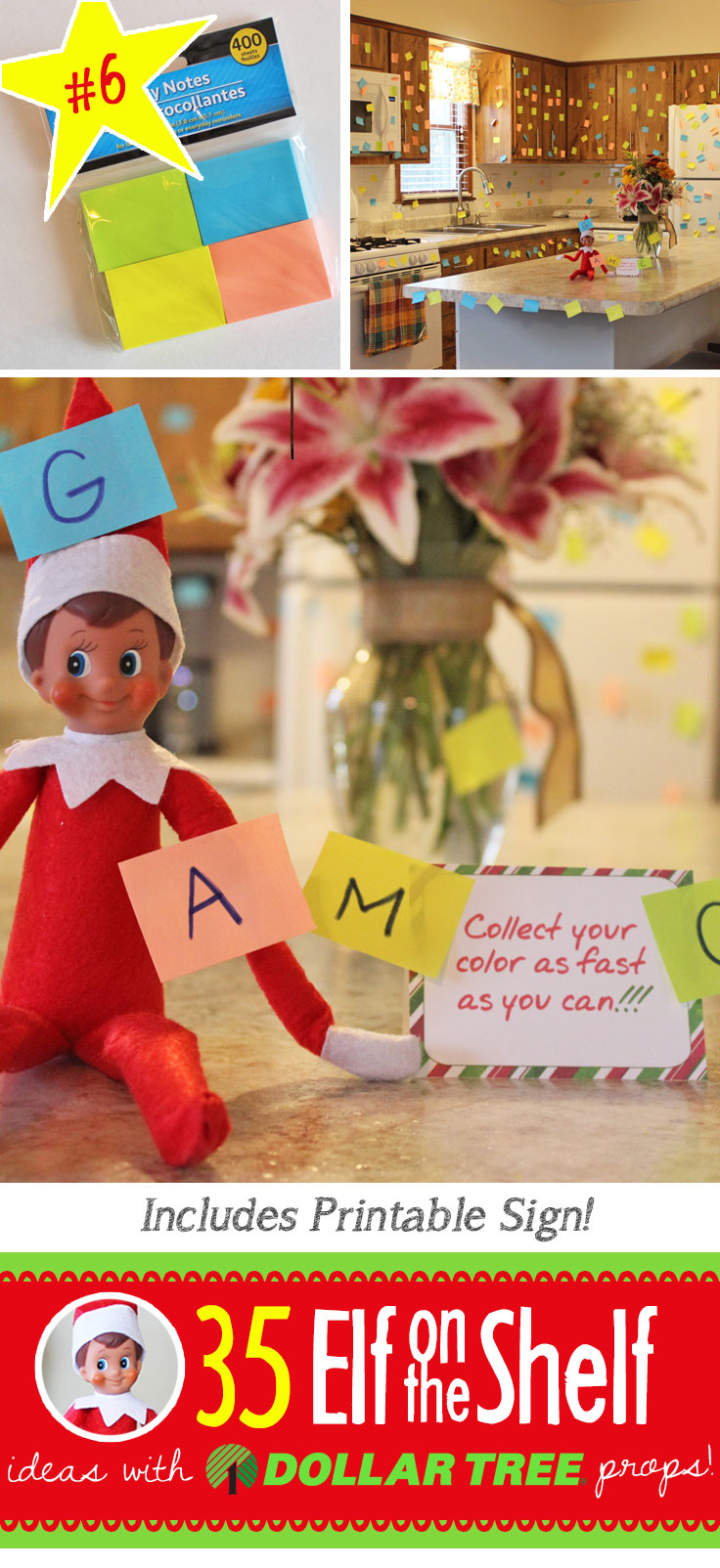 fun and easy post it note game for your elf on the shelf 55