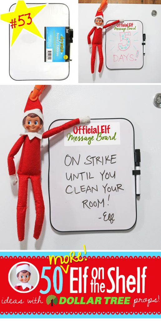Official Elf Message Board! EVERY Family needs one of these (and its SO easy to make!!!) Click here for 55+ New Elf on the Shelf ideas! Our popular ideas have been expanded!! More ideas added daily!