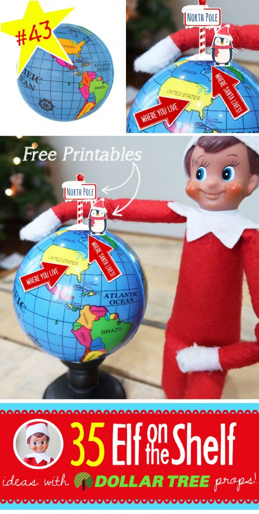 photo about Printable Globe called 55+ Refreshing Elf upon the Shelf: #43 The place Santa Life upon Entire world
