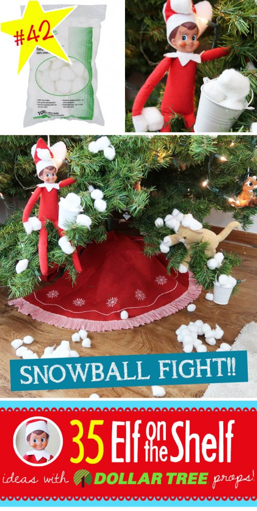 40+ (and growing!!) BRAND NEW Elf on the Shelf ideas for this year! These fun, creative & EASY Elf on the Shelf ideas all include an item from the Dollar Tree! #Christmas #ElfOnTheShelf #Ideas #Easy #Funny #Toddler #DIY #DollarStore