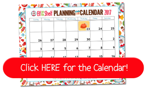 Free Printable Elf on the Shelf Planning Calendar for 2017