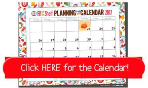 Free Printable Elf on the Shelf Planning Calendar for 2017