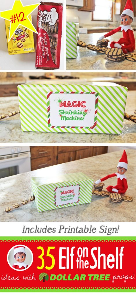 35 ALL NEW Elf on the Shelf ideas for this year! These fun, creative & EASY ideas all include an item from the Dollar Tree! #Christmas #ElfOnTheShelf #Ideas #Easy #Funny #Toddler #DIY #DollarStore