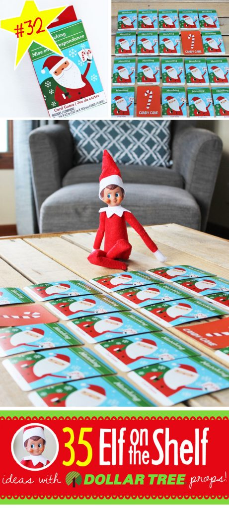 35 BRAND NEW Elf on the Shelf ideas for this year! These funny, creative & EASY Elf on the Shelf ideas all include an item from the Dollar Tree! #Christmas #ElfOnTheShelf #Ideas #Easy #Funny #Toddler #DIY #Boys #New