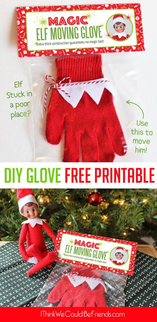photograph relating to Elf on the Shelf Printable known as Do-it-yourself Magic Elf upon the Shelf Going Glove with No cost Printable