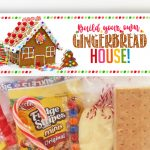 DIY Complete Gingerbread House Kit in a Bag! FREE Printable Topper with Instructions & Ideas!
