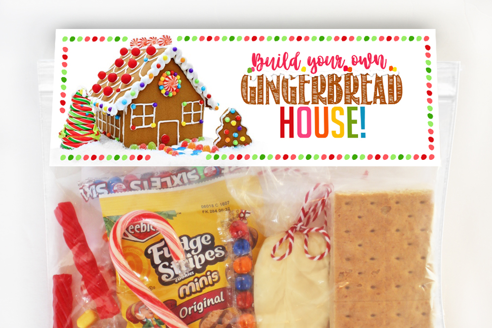 DIY Gingerbread House Decorating Kit with instructions & Ideas! #Gingerbread #House #Ideas #Decorations #DIY #Printable #Christmas