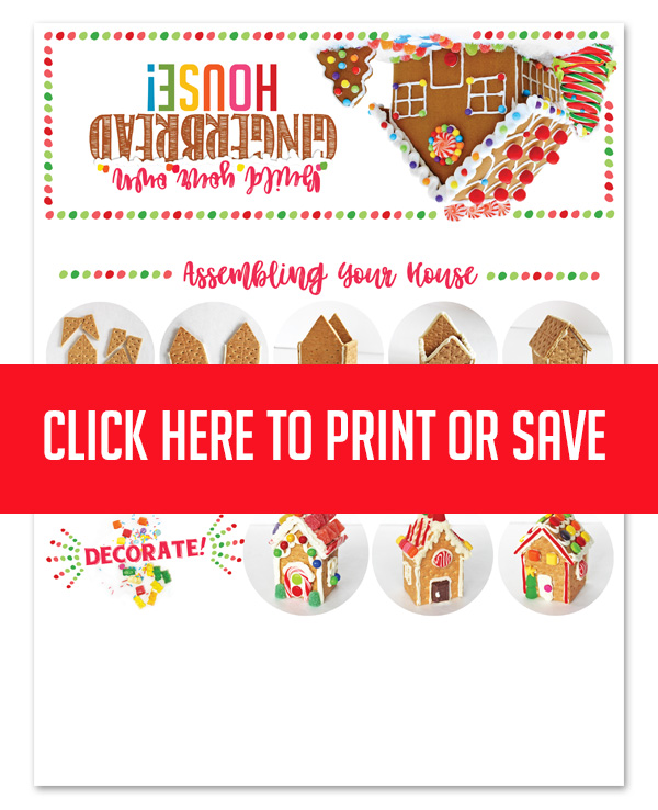 picture relating to Printable Gingerbread House identified as Do it yourself Detailed Gingerbread Household Package in just a Bag! Totally free Printable