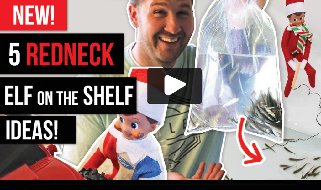 New! 5 Redneck Elf on the Shelf Ideas--these are REALLY FUNNY! #ElfontheShelf #Ideas #New #Redneck #Boys #Easy #Qucik