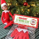 DIY Magic Elf on the Shelf Moving Glove with Free Printable package! (How to move an Elf on the Shelf!)