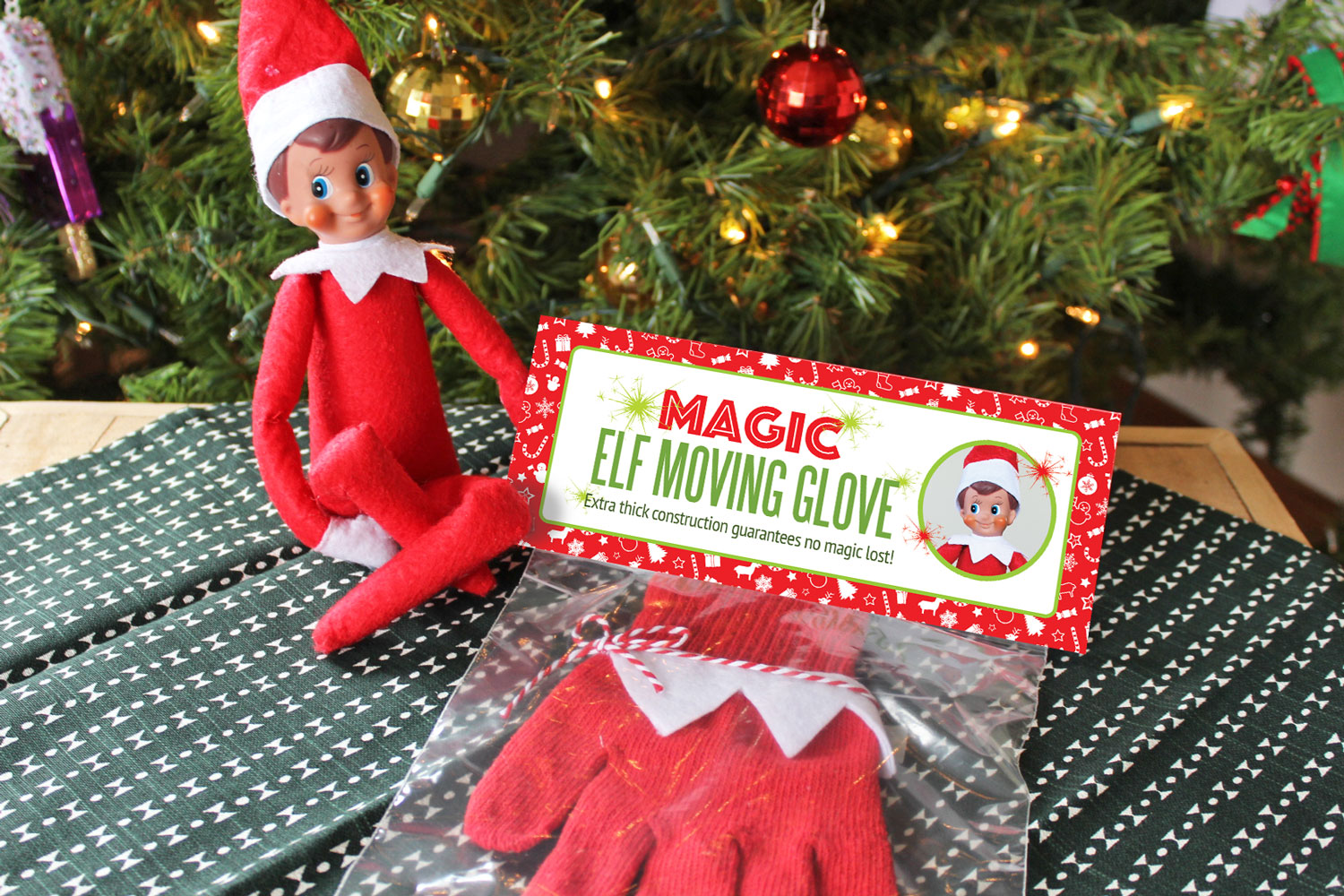 image regarding Elf on the Shelf Printable called Do it yourself Magic Elf upon the Shelf Shifting Glove with Totally free Printable