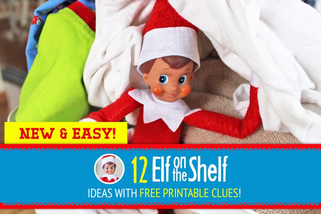 SUPER EASY Elf on the Shelf Ideas! These are ALL NEW printable clues, quick to do each night but FUN for your kids to decipher! #Elf #Shelf #ElfontheShelf #New #Funny #Quick #Easy #Ideas #Christmas