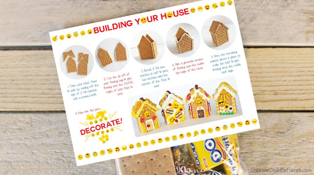 Emoji Party Ideas Emoji Gingerbread House Diy Build