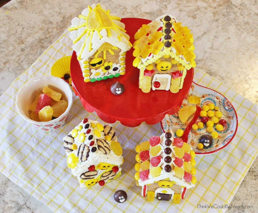 Looking For A Fun Emoji Birthday Party Idea Our Kids LOVED These Gingerbread Houses