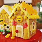 Emoji Party Ideas: Emoji Gingerbread House DIY Build & Decorate Kit with Ideas!