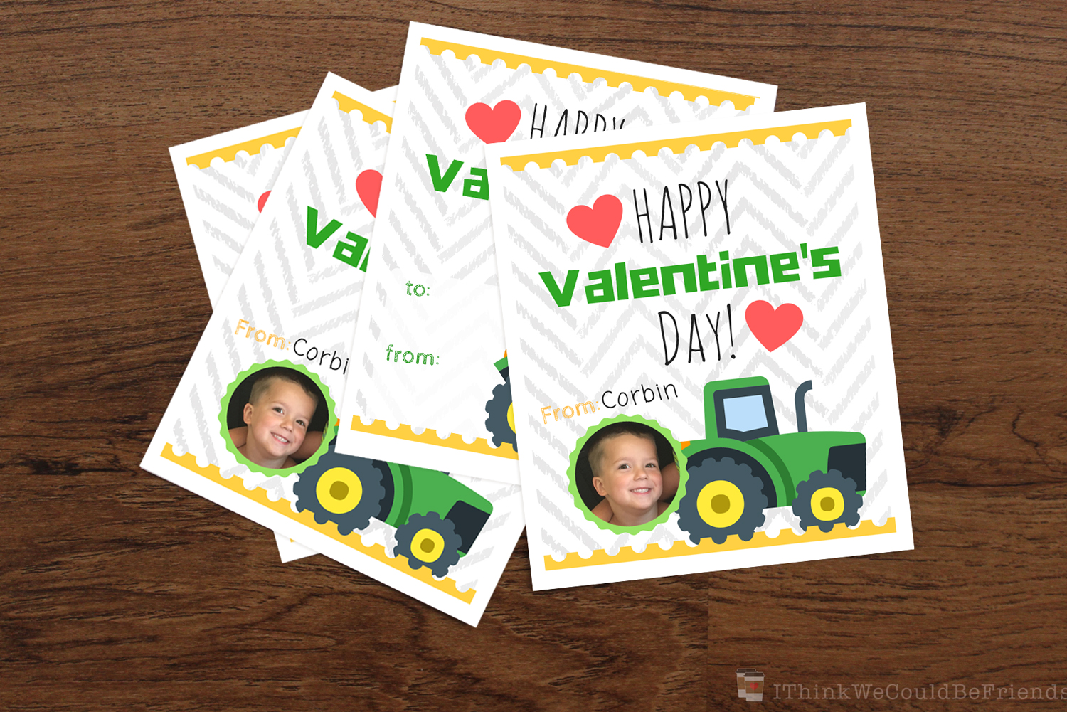 photograph about John Deere Printable referred to as Absolutely free Printable John Deere Tractor Valentines for Boys! (Or