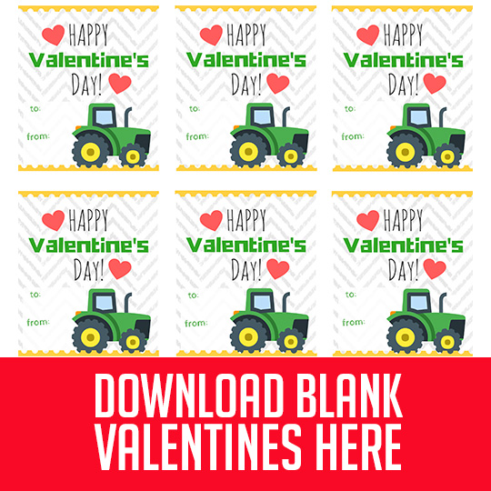 picture relating to John Deere Printable identify Totally free Printable John Deere Tractor Valentines for Boys! (Or