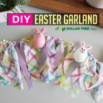 DIY Easter Egg Garland Decoration with Dollar Tree items! Quick & easy craft in 15 min for $5!