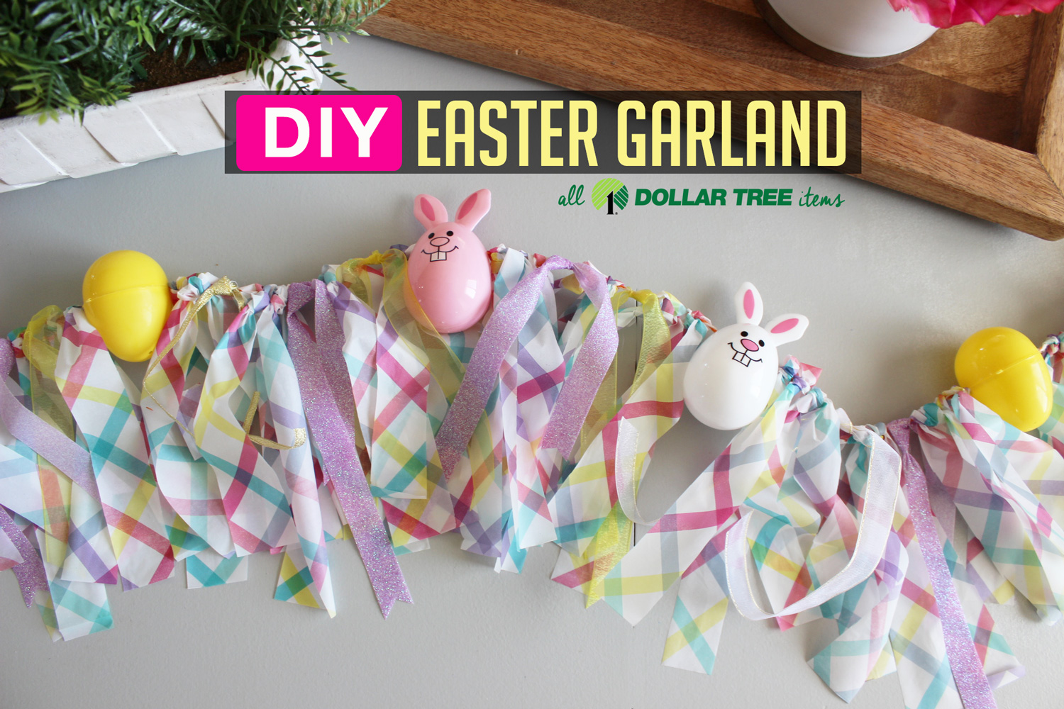 Diy Easter Egg Garland Decoration With Dollar Tree Items