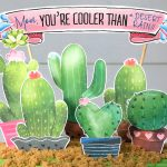 DIY Mother's Day Cactus Cake Topper Decoration: Free Printable!