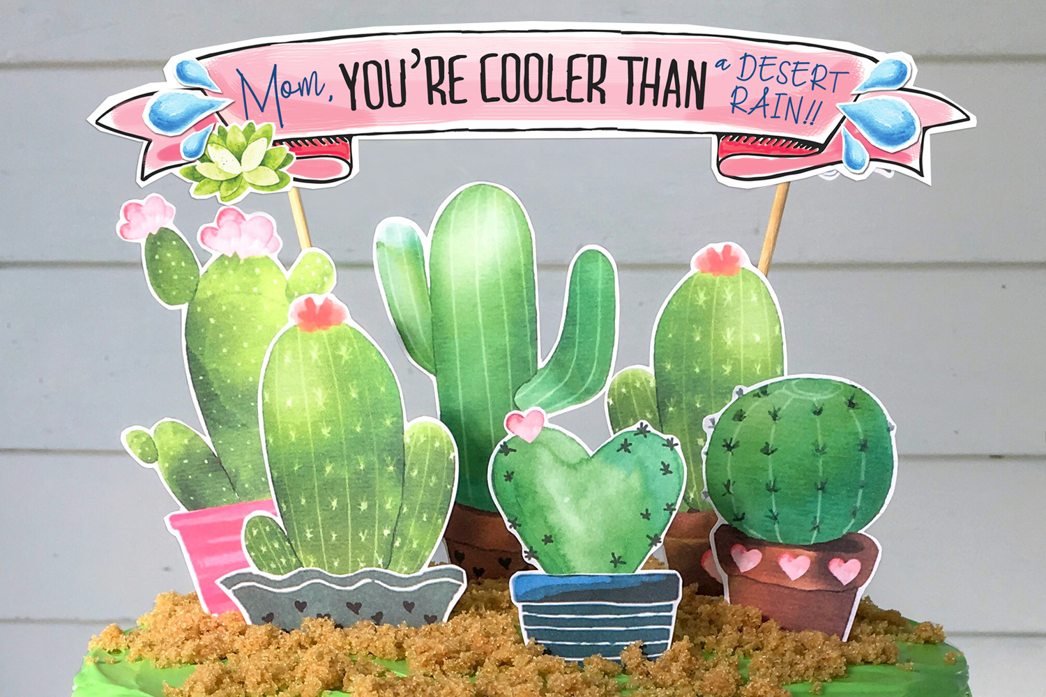 It is a graphic of Striking Free Cactus Printable
