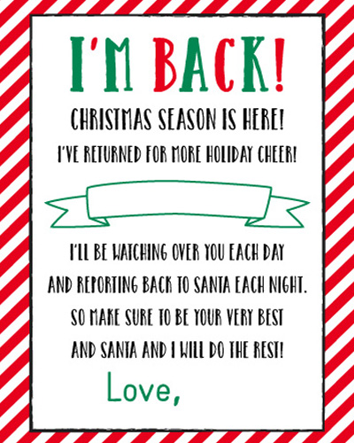 we hope this helps to have all elf on the shelf arrival letters in one place click here for the free printable letter