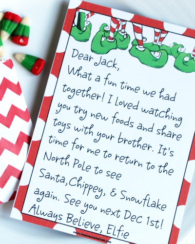 elf on the shelf arrival ideas complete index of free letters i