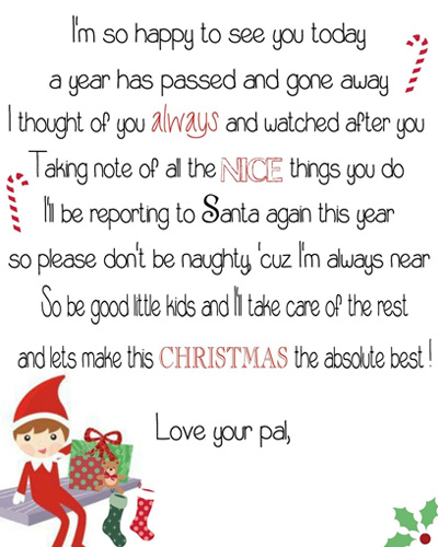 we hope this helps to have all elf on the shelf arrival letters in one place click here for the free printable arrival letter