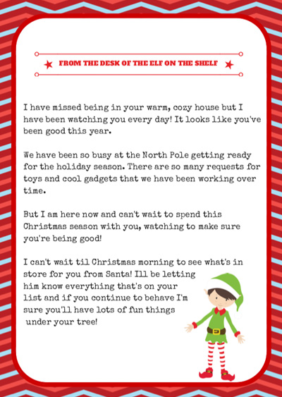 we hope this helps to have all elf on the shelf arrival letters in one place