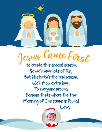 New this year! Christian (includes Jesus!) arrival letter rom the complete index of FREE printable Elf on the Shelf Arrival Letters, updated daily, with NO dead links! Happy Elf Arrival! #elfontheshelf #arrival #ideas #letter #free #printable #quick #easy #funny #toddler