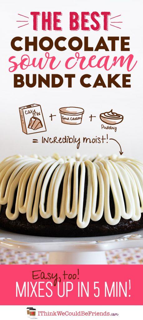 The Best Chocolate Sour Cream Bundt Cake Recipe Starts