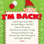 Elf on the Shelf Arrival Letter Free Printable