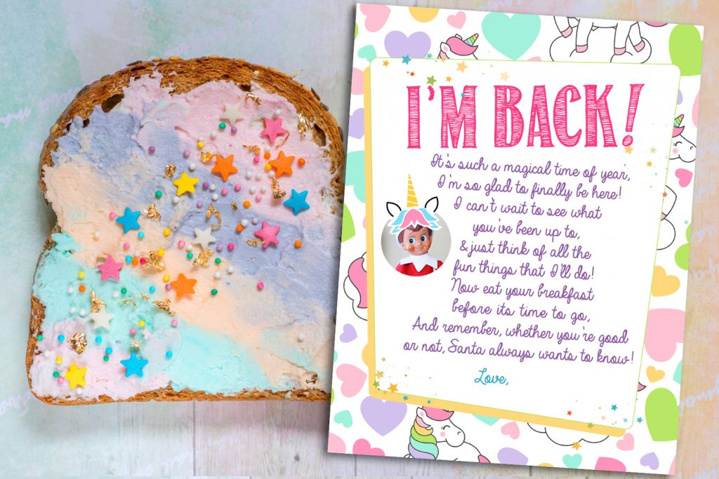 click here for the free printable unicorn welcome letter