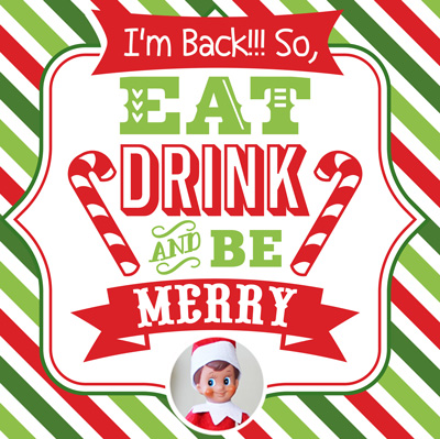 Welcome your Elf on the Shelf with a special arrival breakfast! Here is a cute, quick and EASY letter that you can print for free for your table! #elfontheshelf #christmas #arrival #ideas #best #quick #easy #funny #letter #free #printable #sign