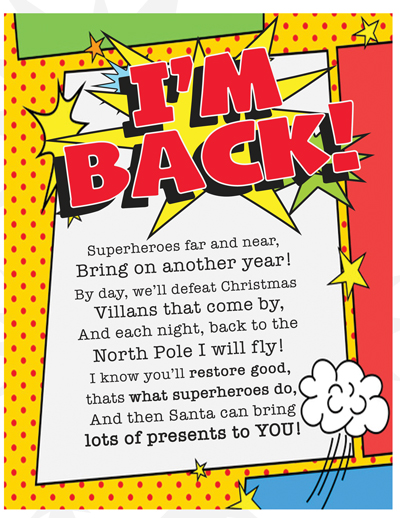 Elf on the Shelf Arrival Ideas: FREE Printable Superhero arrival letter